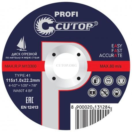 Отрезной диск CUTOP 39996т Т41-115 х 1,0 х 22,2