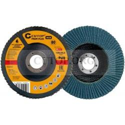 Круг лепестковый торцевой Cutop Profi Plus 72-12540 (80 лепестков): 125 х 22,2 мм, Р40